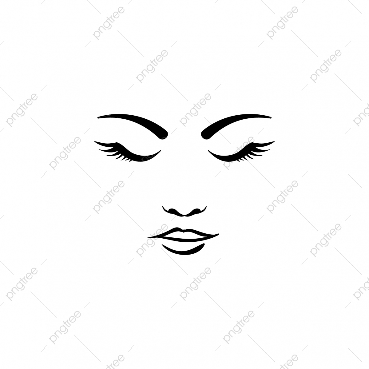 Beauty Face Woman Logo Template Attractive Beautiful Beauty Png And Vector With Transparent Background For Free Download