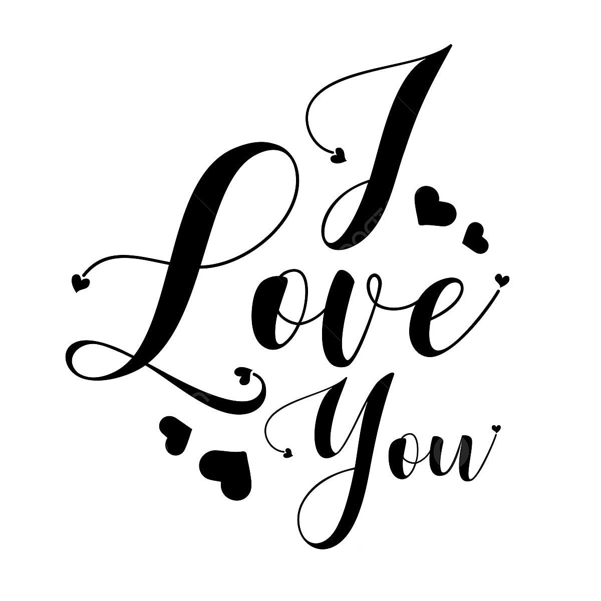 أبيض وأسود أحبك حروف عيد الحب سعيد الحب اليوم Png والمتجهات