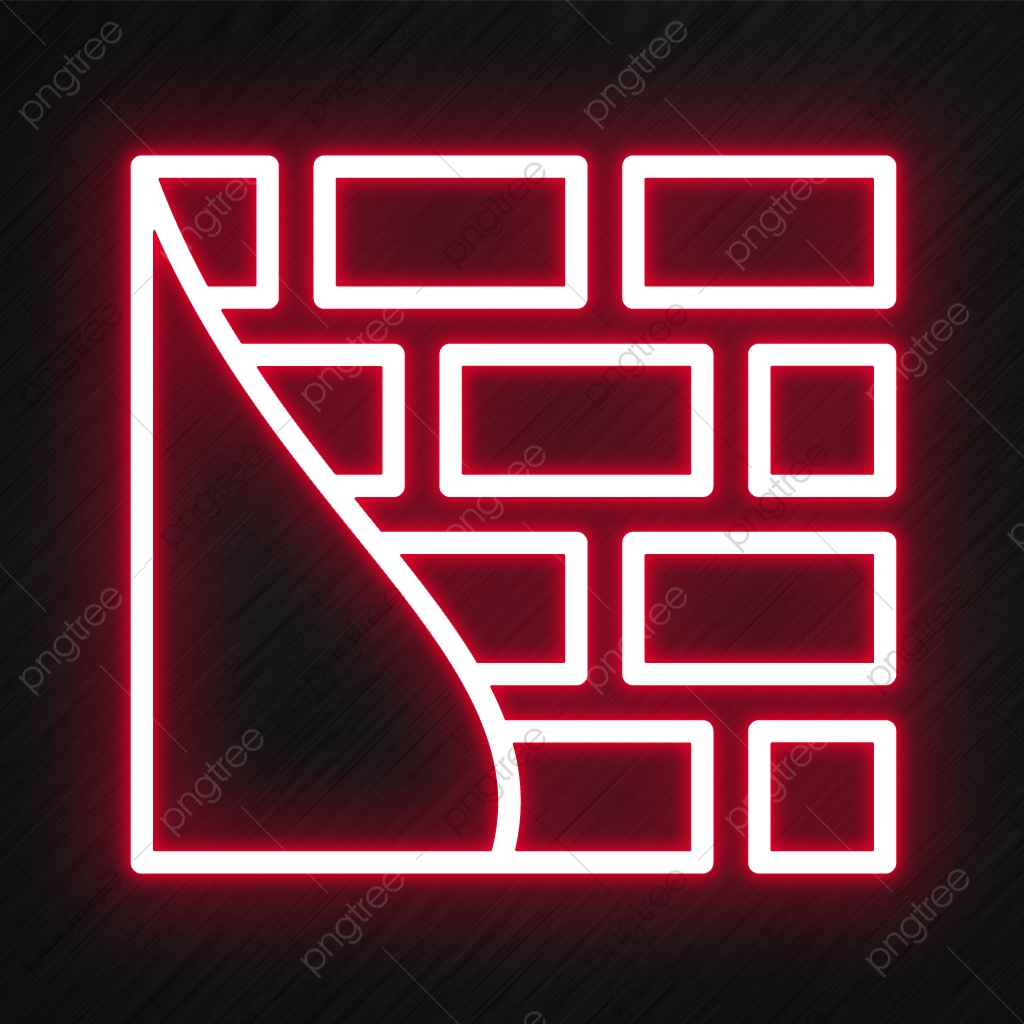 Brick Wall Icon In Neon Style Style Icons Neon Icons Wall Icons Png Transparent Clipart Image And Psd File For Free Download
