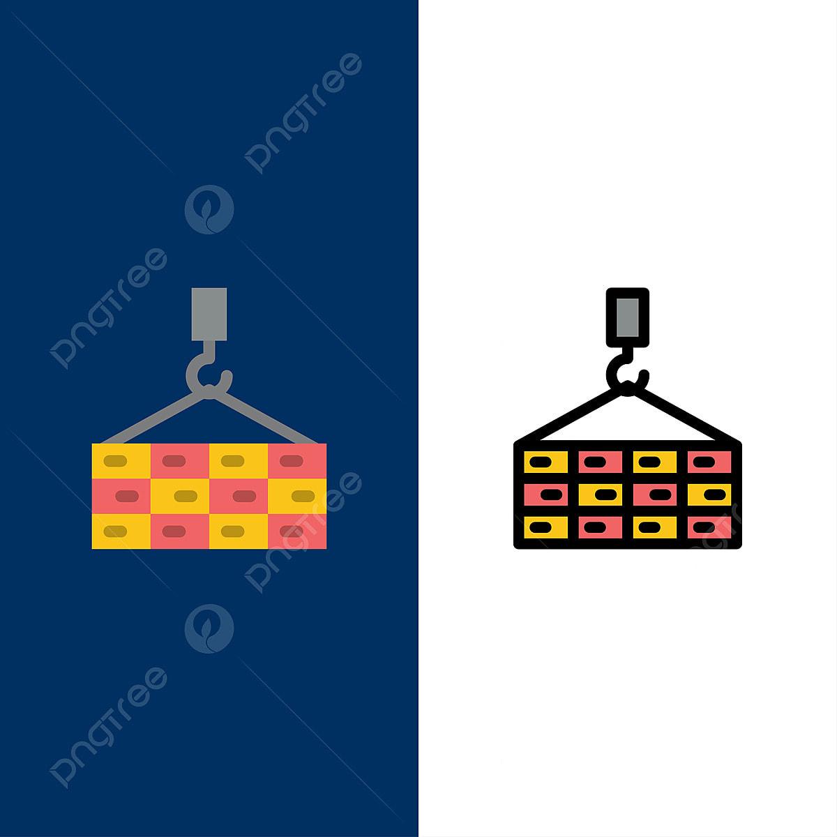 Construction crane line icon concept. construction crane flat vector symbol,  sign, outline illustration. Construction crane