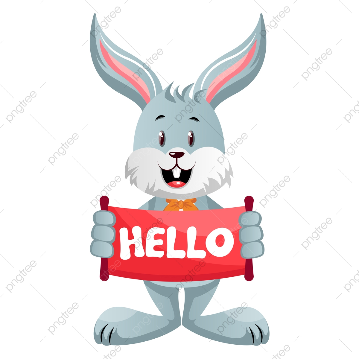Bunny With Hello Sign Illustration Vector On White Background Illustration Cartoon Graphic Png And Vector With Transparent Background For Free Download