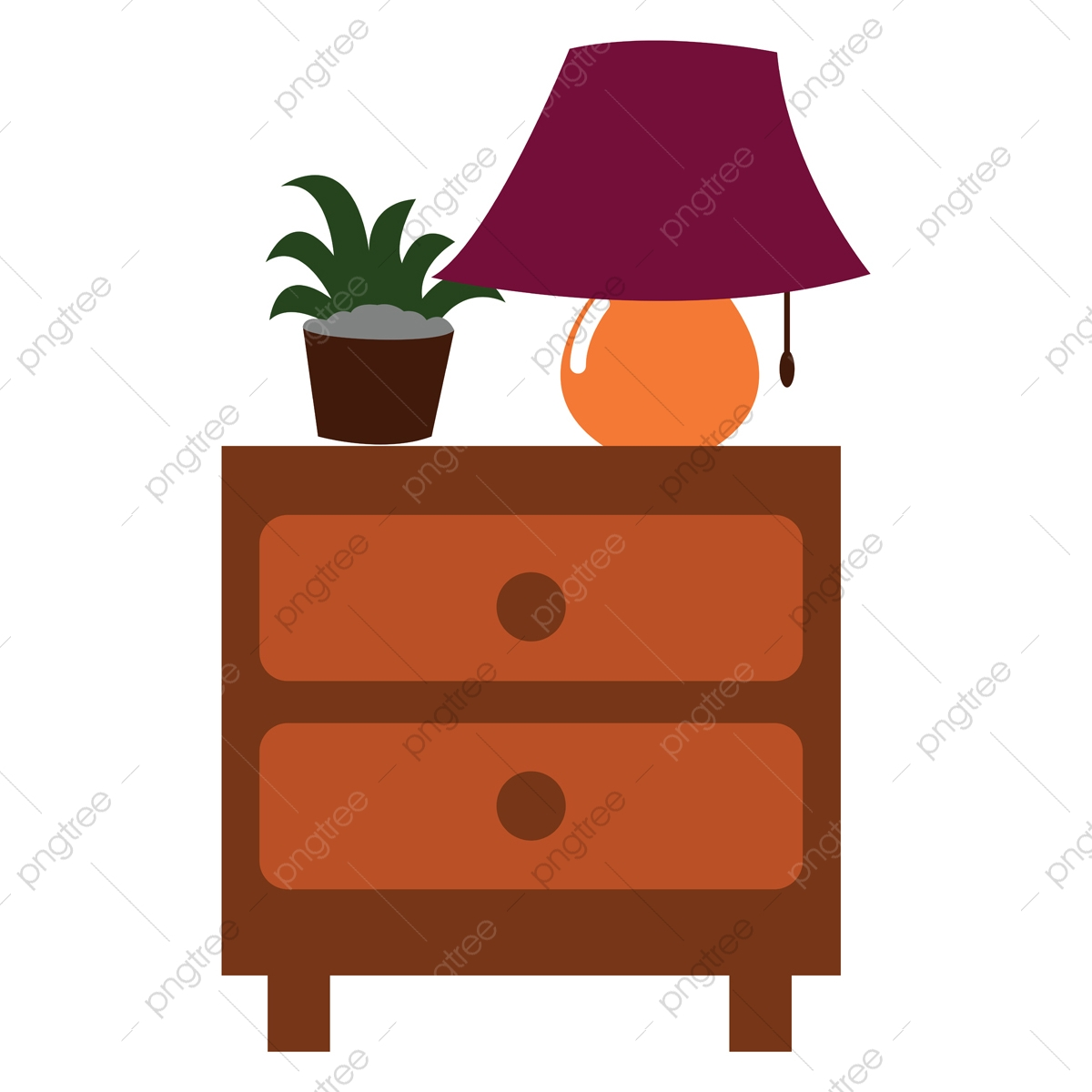 Picture of: Clipart Of A Nightstand Side Table With Two Drawers For Bedrooms Clipart Nightstand Side Png And Vector With Transparent Background For Free Download
