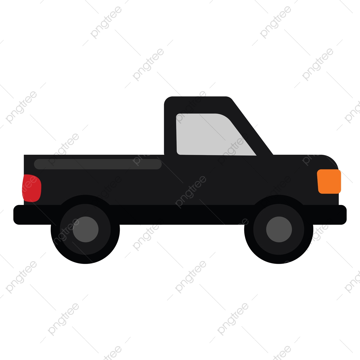 Clipart Of A Pickup Truck Set On Isolated White Background Viewe Clipart Green Pickup Png And Vector With Transparent Background For Free Download