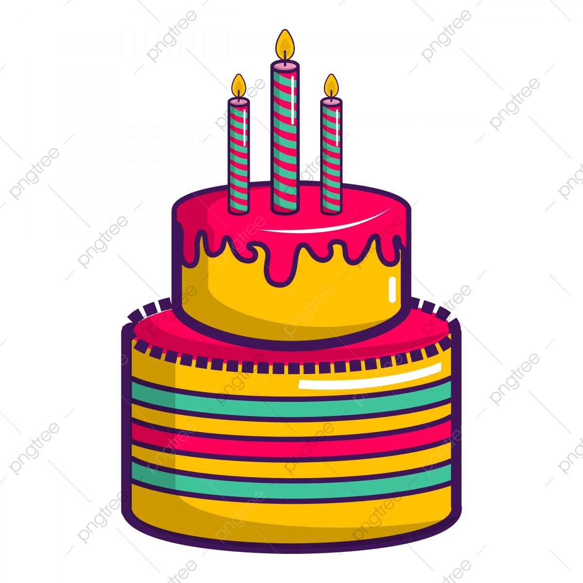 Admirable Colorful Birthday Cake Icon Cartoon Style Candle Sweet Cartoon Funny Birthday Cards Online Kookostrdamsfinfo