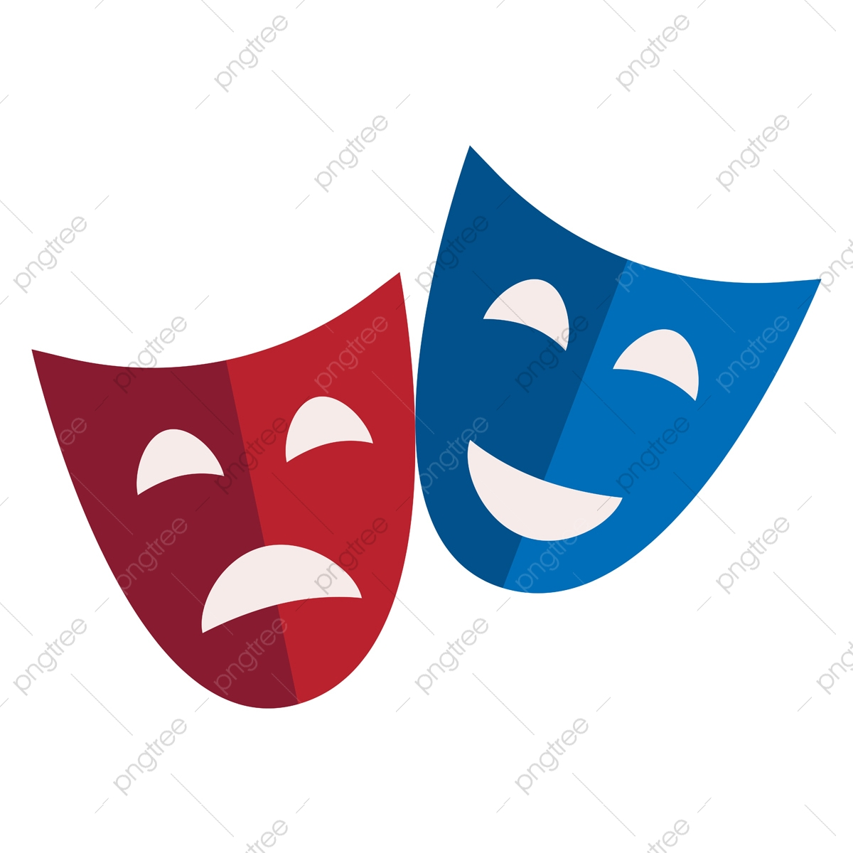 tragedy png images vector and psd files free download on pngtree https pngtree com freepng comedy and tragic mask of red and blue color used in theatres ve 5279977 html