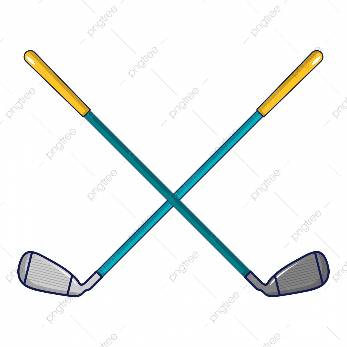 Crossed Golf Clubs Icon Cartoon Style Style Icons Cartoon Icons Golf Icons Png And Vector With Transparent Background For Free Download