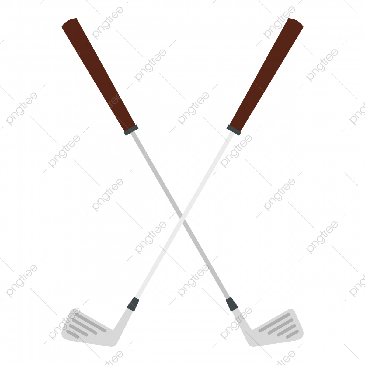 Crossed Golf Clubs Icon Isolated Golf Icons Isolated Club Png And Vector With Transparent Background For Free Download