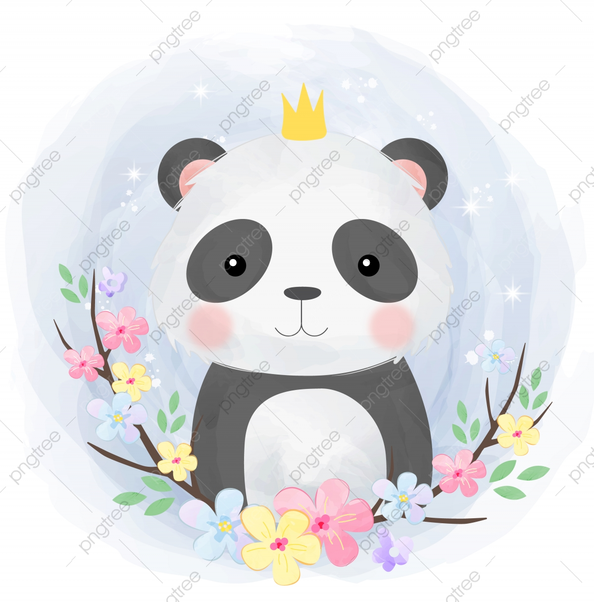 Cute Baby Panda Illustration Adorable Animal Baby Png And Vector With Transparent Background For Free Download