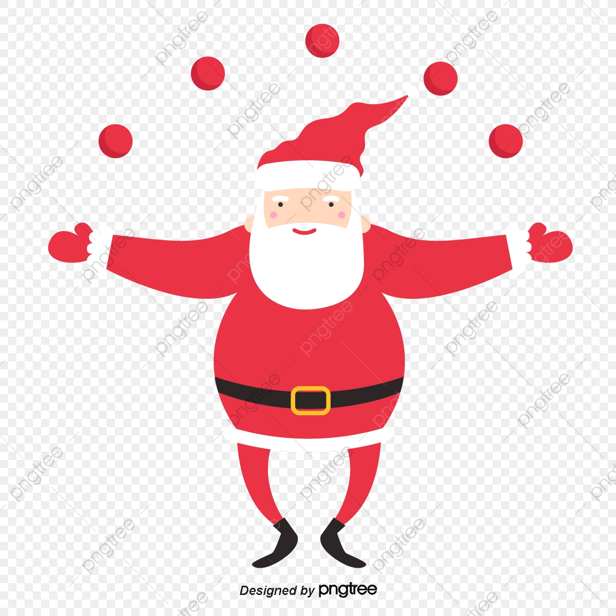 Cute Cartoon Dancing Santa Element Cartoon Christmas Santa Claus Png And Vector With Transparent Background For Free Download