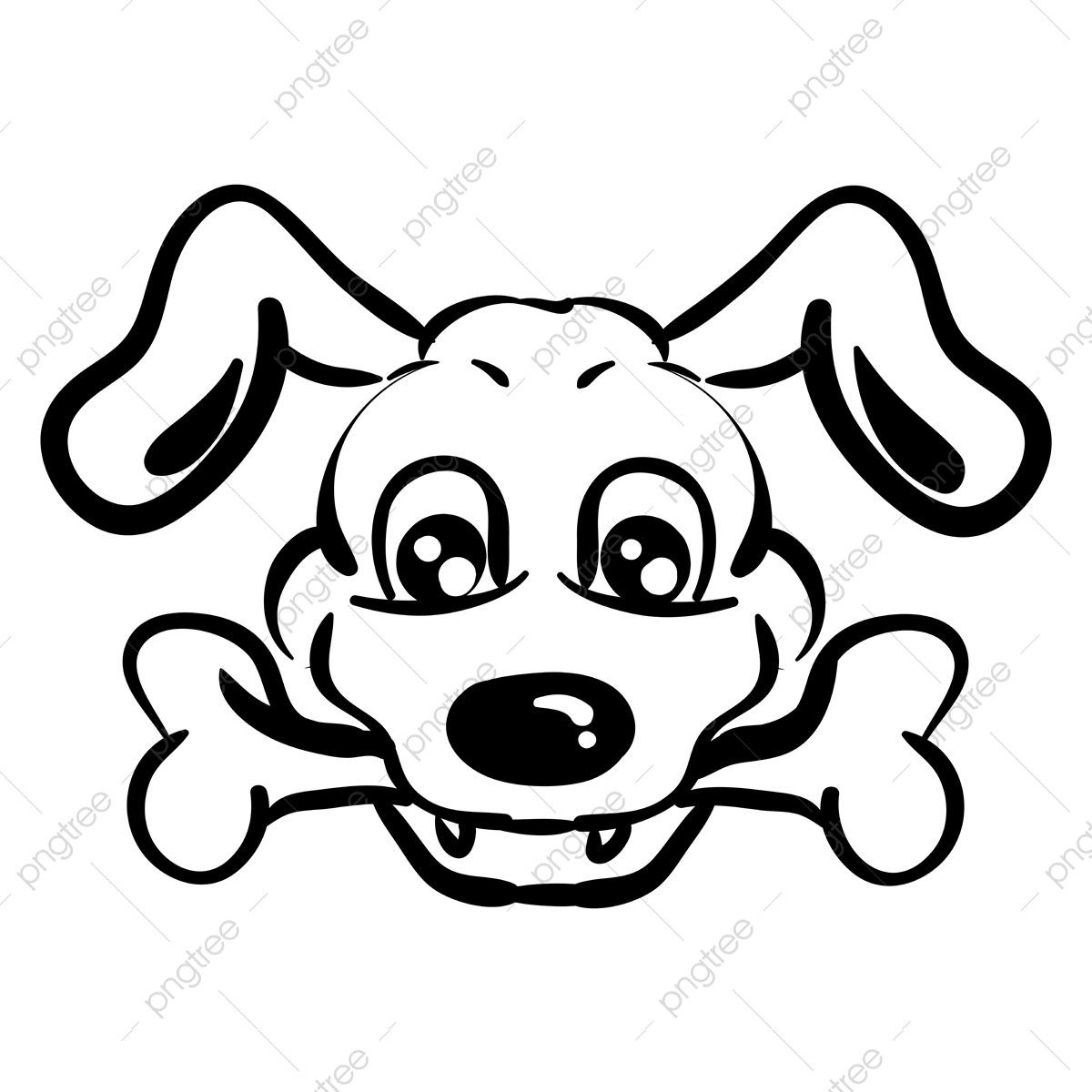 Dog With Bone Drawing Illustration Vector On White Background Food Bone Animal Png And Vector With Transparent