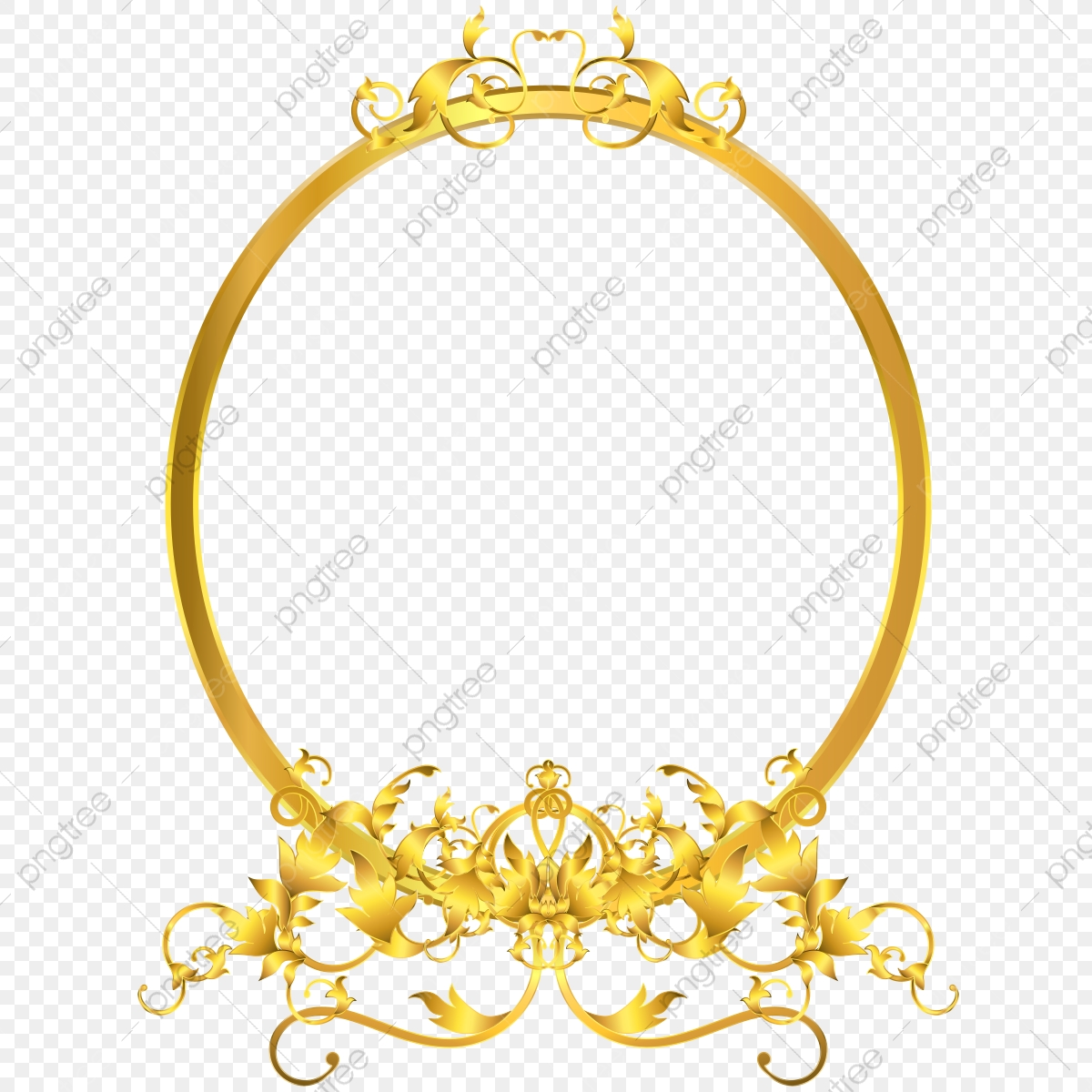 Elegant Mirror Decor With Victorian Ornaments Golden Frame Leaves Branch Border Png And Vector With Transparent Background For Free Download