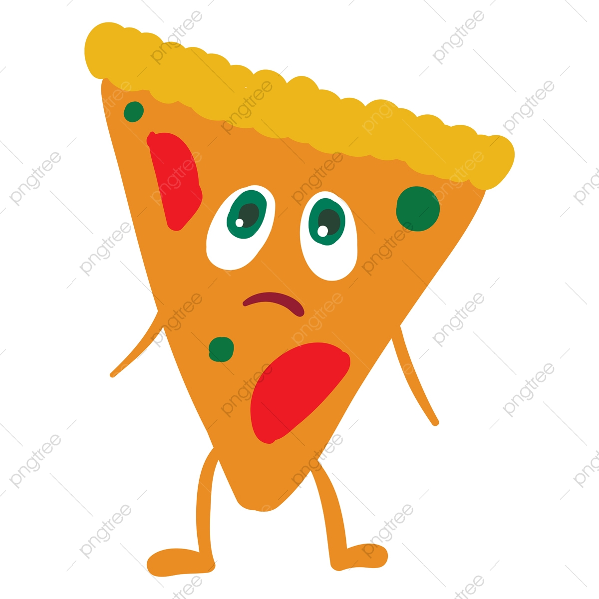 Emoji Of A Sad Pizza Vector Or Color Illustration, Emoji, Pizza, Cute PNG  and Vector with Transparent Background for Free Download