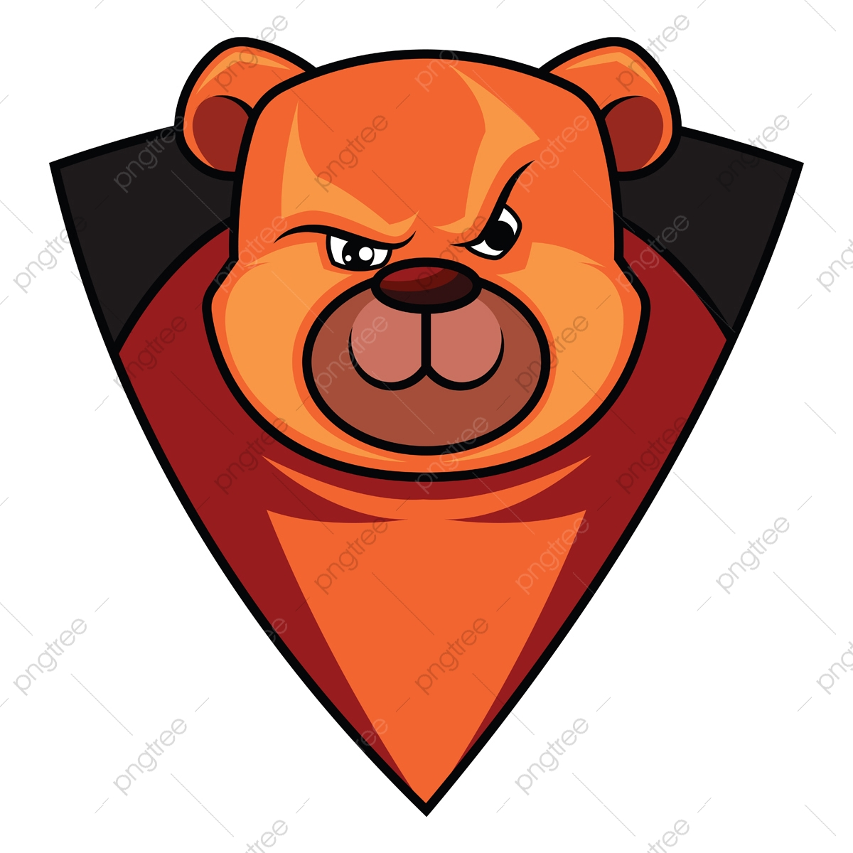 Gaming Logo Of A Bear Illustration Vector On White Background Animal Logo Game Png And Vector With Transparent Background For Free Download
