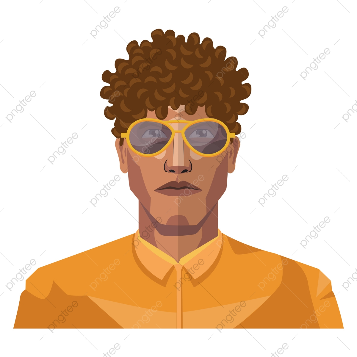 Handsome Guy With Short Curly Hair Illustration Vector On White Handsome Smile Portrait Png And Vector With Transparent Background For Free Download