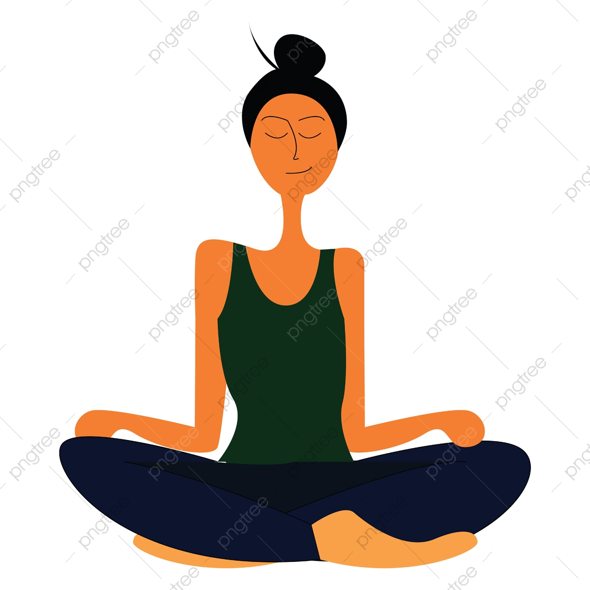 Healthy Yoga Vector Or Color Illustration Health People Indoors Png And Vector With Transparent Background For Free Download