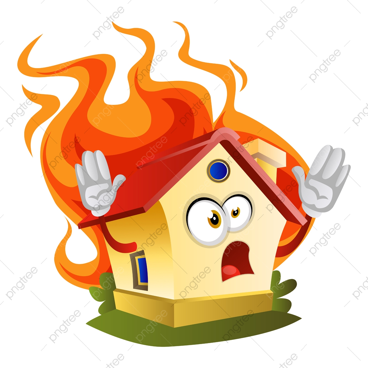 House On A Fire Illustration Vector On White Background House Pictogram Icon Png And Vector With Transparent Background For Free Download