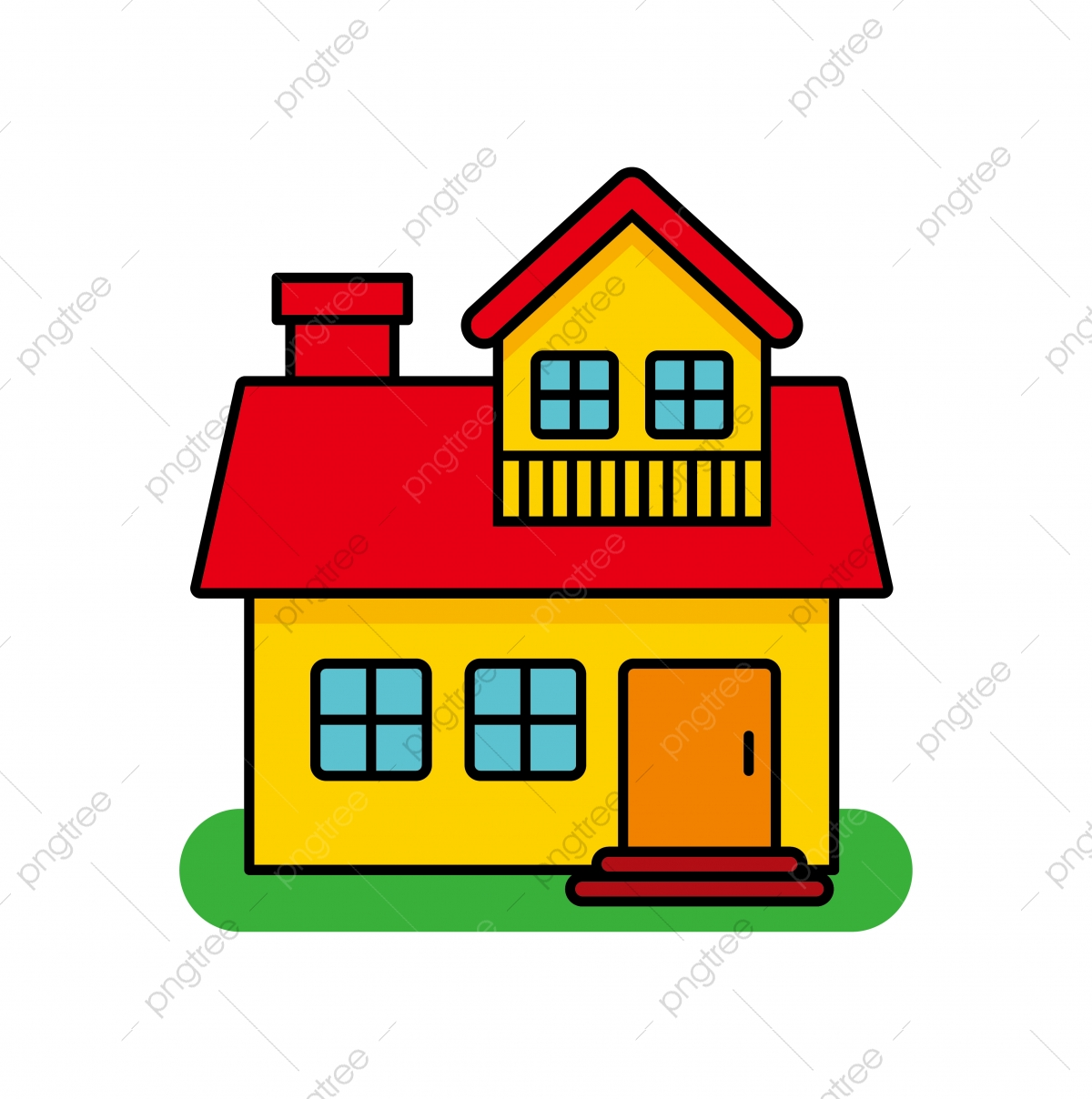 House Vector Illustration Isolated On White Background House Cartoon House Clip Art House Clipart Clip Art Home Png And Vector With Transparent Background For Free Download