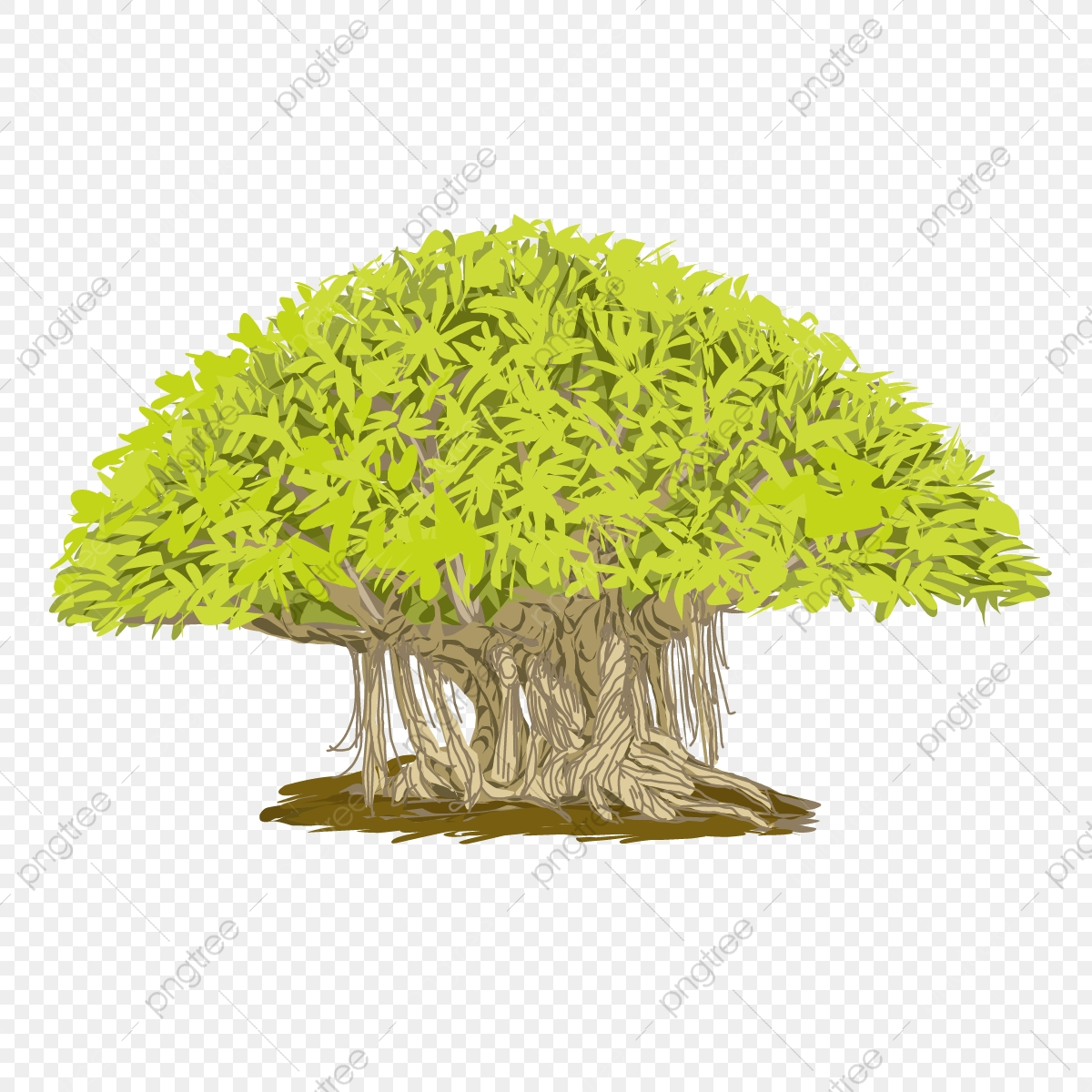 Illustration Art Of A Banyan Tree Logo With Isolated Background Tree Clipart Png Banyan Tree Banyan Tree Vector Png And Vector With Transparent Background For Free Download