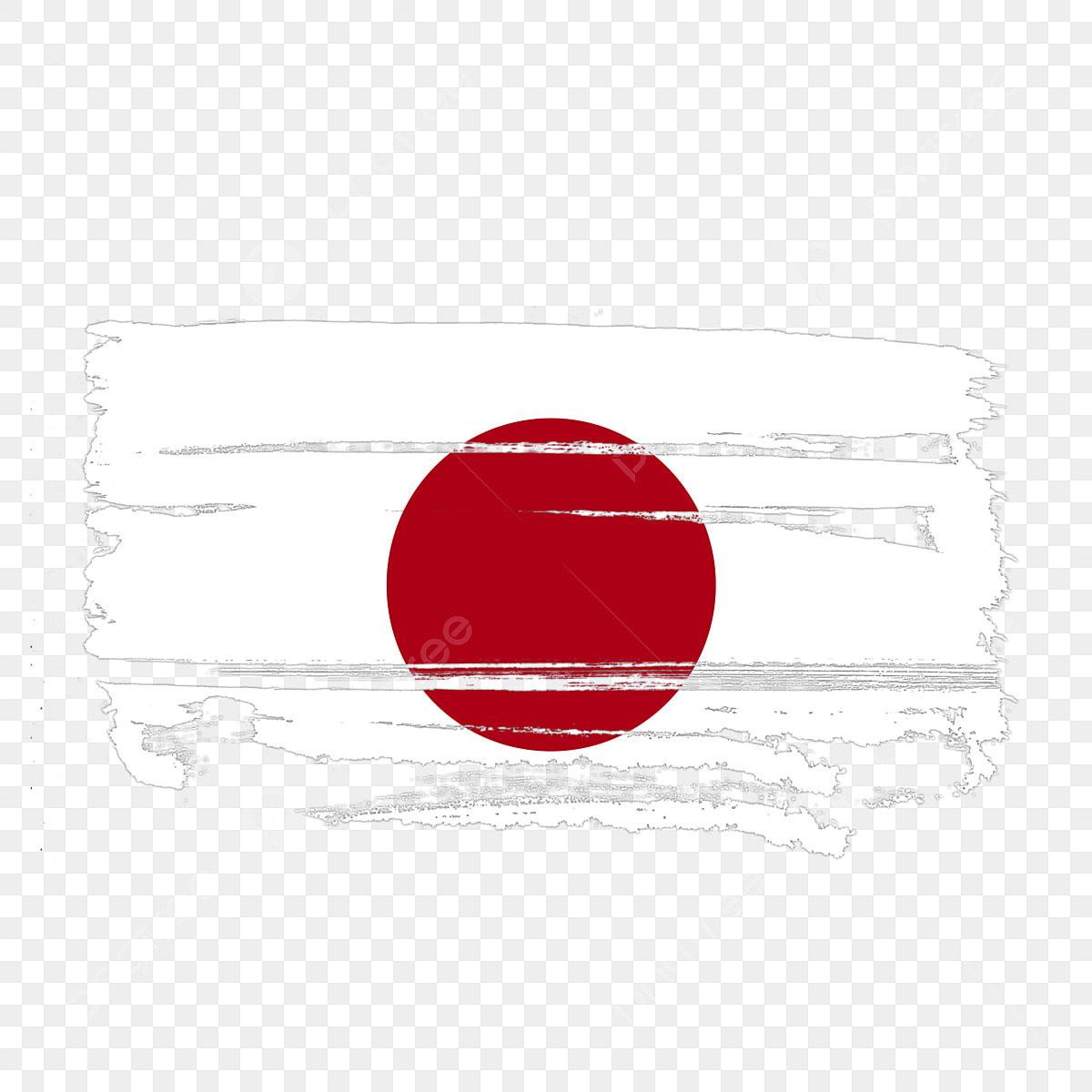Bandera De Japon Transparente Con Pincel De Acuarela Japon La