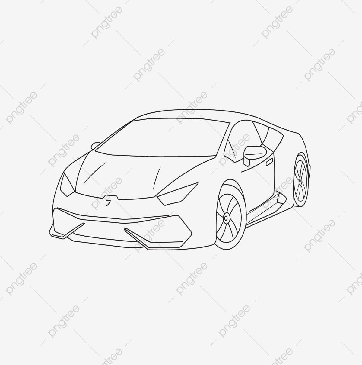 Lamborghini Aventador S Car Line Art Drawing Car Line Art Drawing Png And Vector With Transparent Background For Free Download
