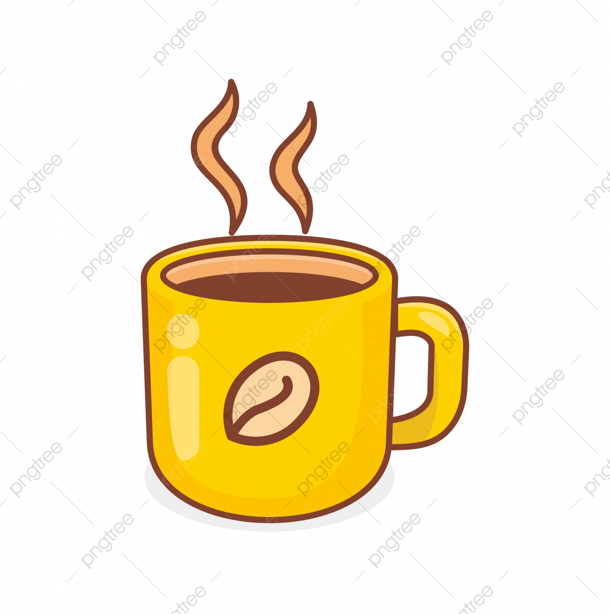 Mug Of Coffee Vector Illustration With Cute Design Isolated On White Background Coffee Clip Art Mug Clipart Mug Coffee Png And Vector With Transparent Background For Free Download