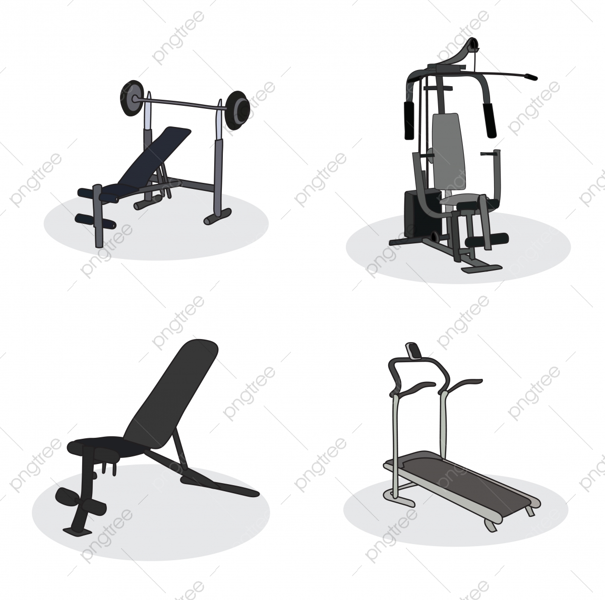 Set Of Gym Equipment Hand Drawn Doodle, Exercise, Doodle, Fitness PNG and  Vector with Transparent Background for Free Download