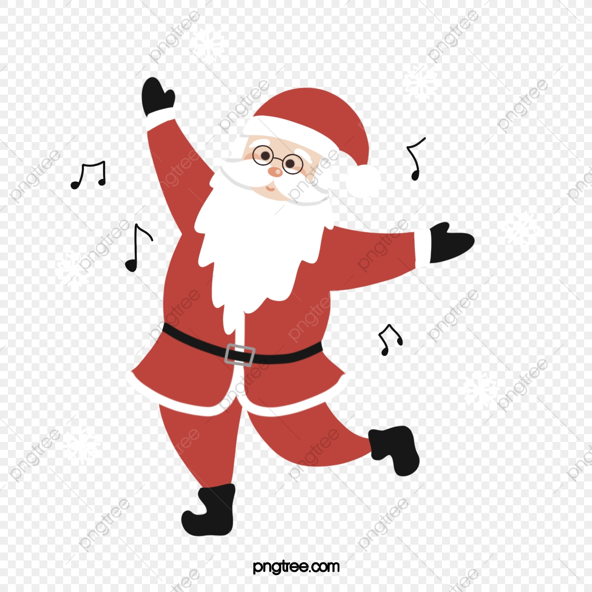 Simple Cute Dancing Santa Element Santa Claus Christmas Dance Png Transparent Clipart Image And Psd File For Free Download