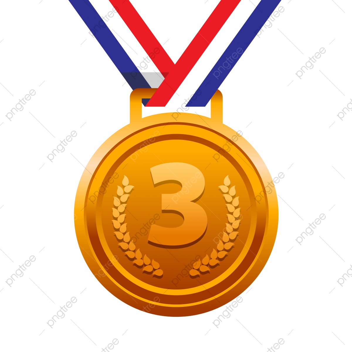Third Place Bronze Medal For Sport Podium Winner, Achievement ...