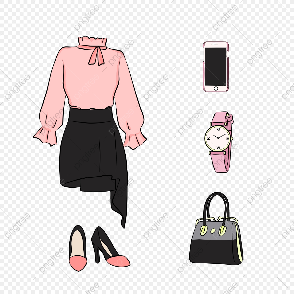 Fashion Items PNG Images  Vector and PSD Files  Free Download on