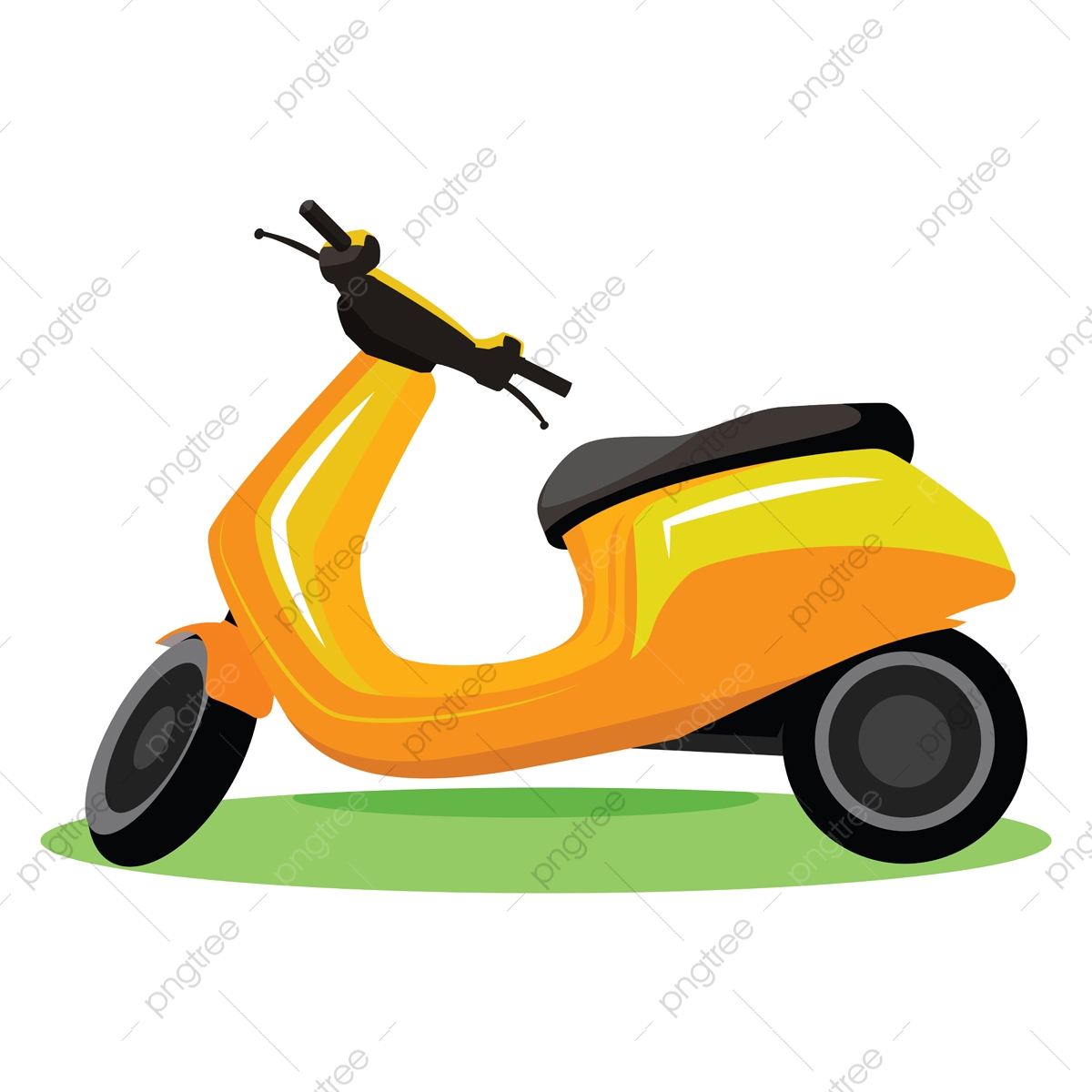 yellow modern scooter vector illustration on white background vector scooter motorcycle png and vector with transparent background for free download https pngtree com freepng yellow modern scooter vector illustration on white background 5296482 html