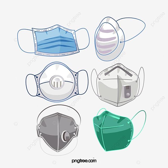 hand drawn medical mask medical supplies
