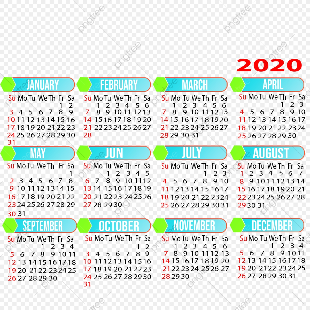 2021 Yearly Calendar Design, 2021, Calendar, 2021 Calendar PNG
