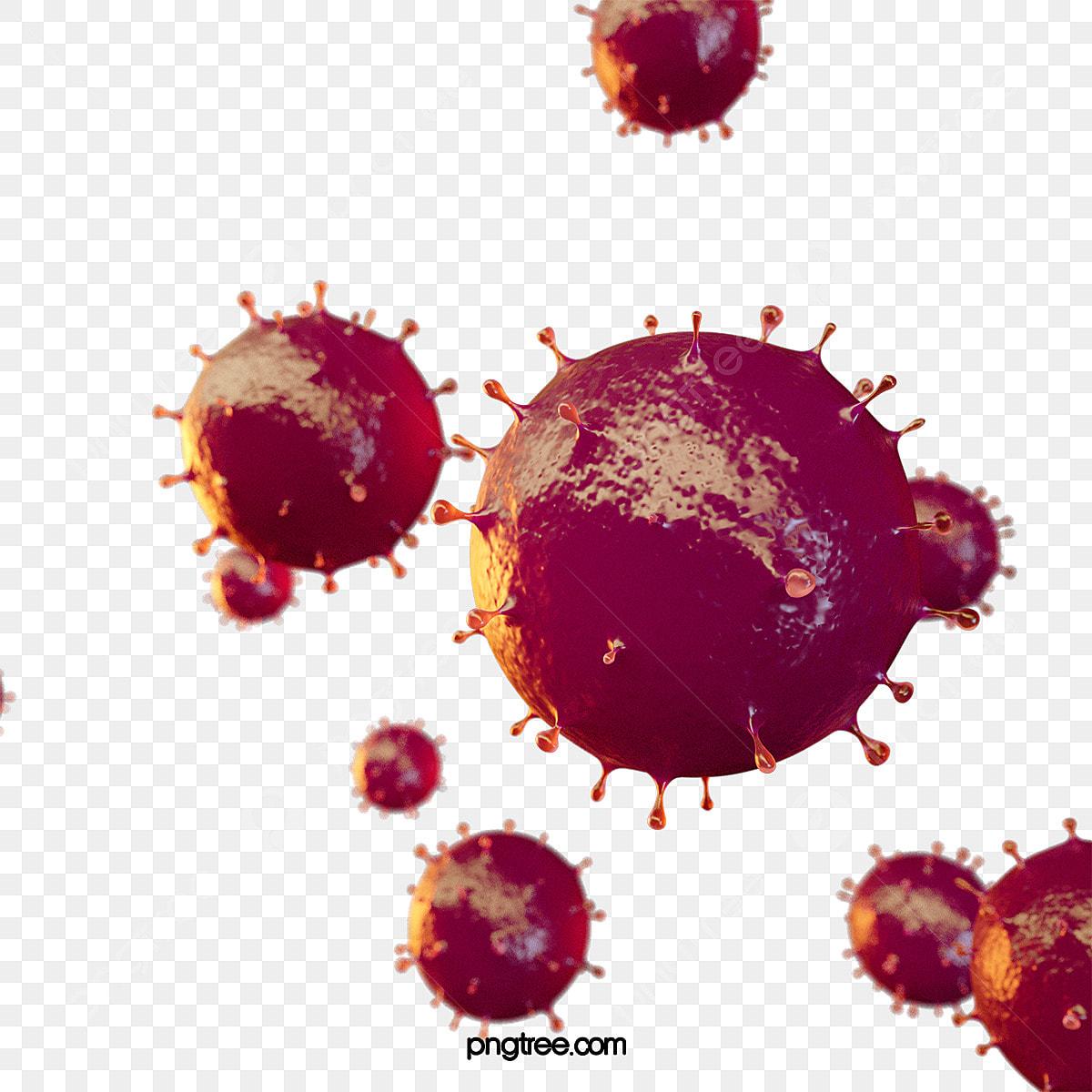 3d Red Corona Virus Element 3d Coronavirus Red Png Transparent