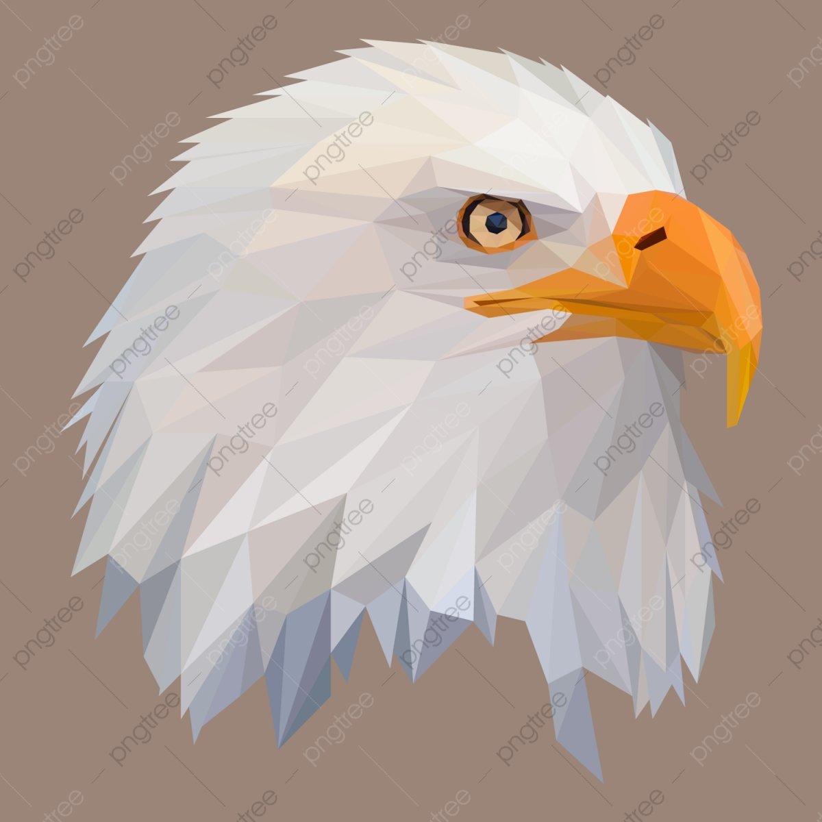 Furious eagle head logo mascot Royalty Free Vector Image