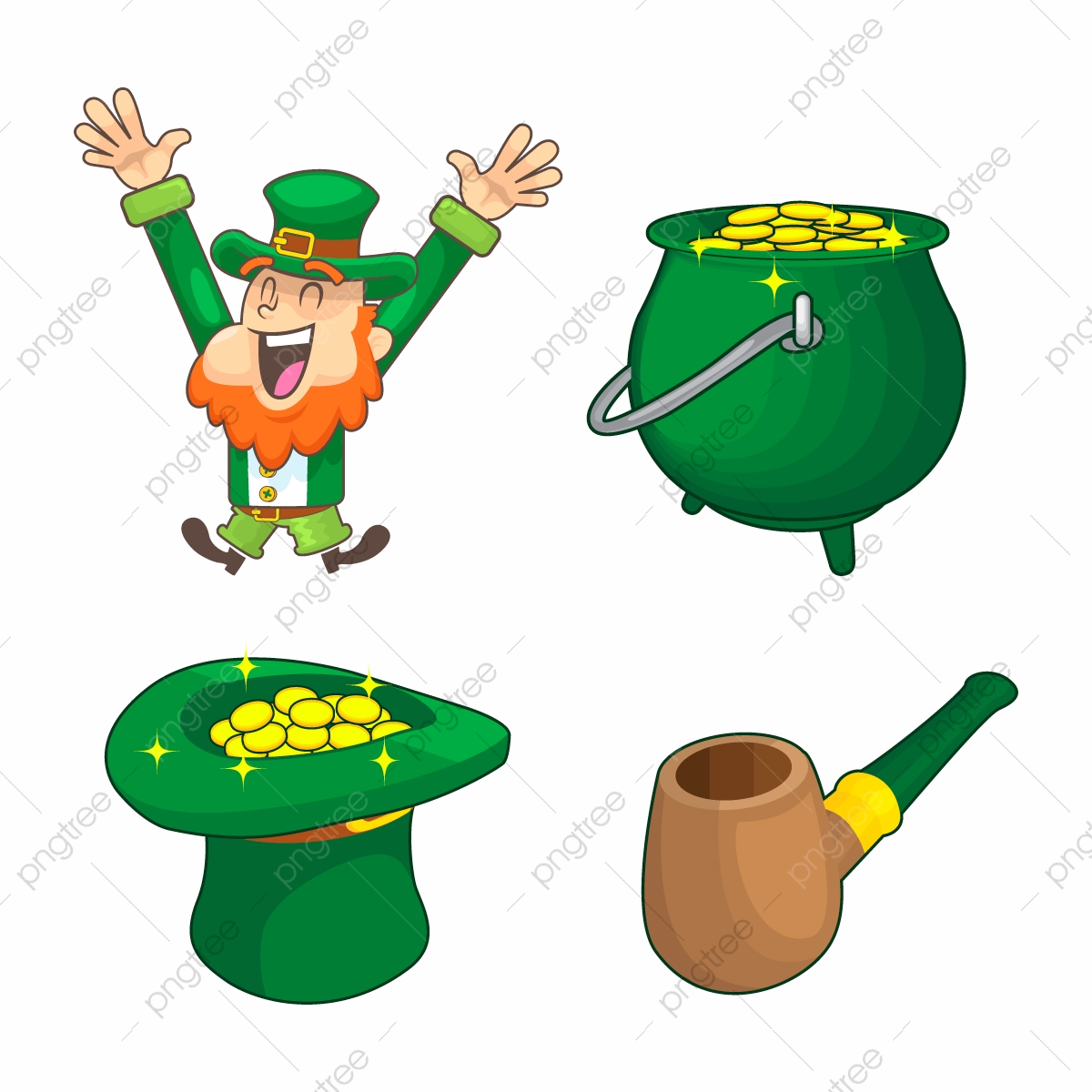 Collection Of Leprechaun For Saint Patrick Design Cartoon Character Leprechaun Png And Vector With Transparent Background For Free Download