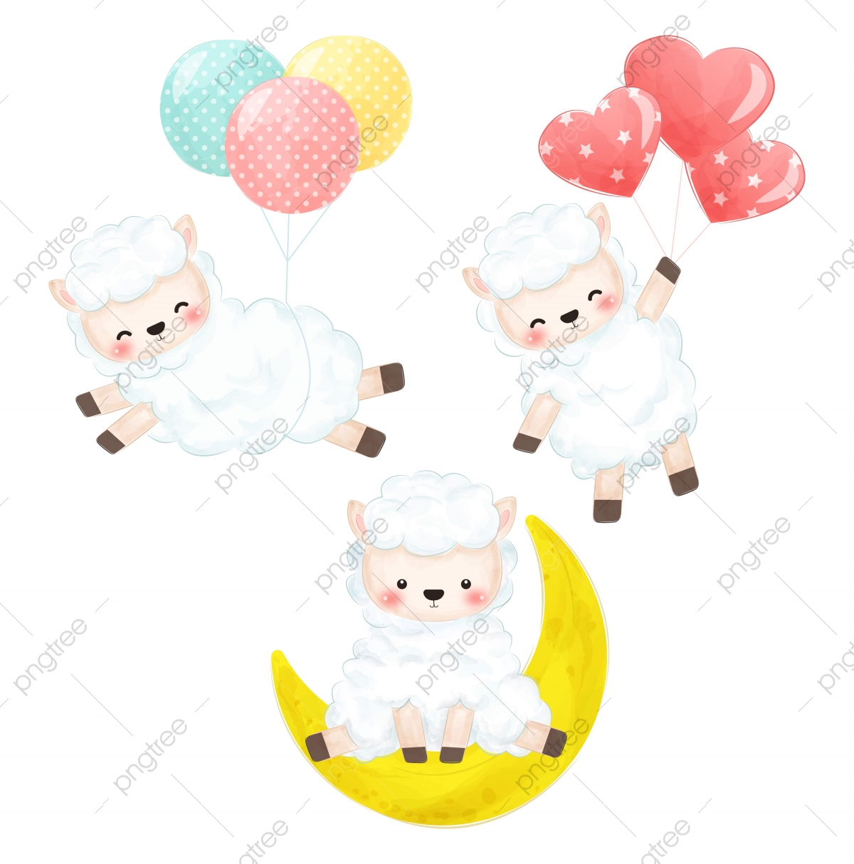 Cute Lamb Png Images Vector And Psd Files Free Download On Pngtree