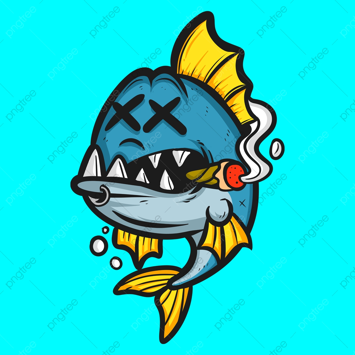 Dead Fish Cartoon Logo Cartoon Tshirt Design Tshirt Png Transparent Clipart Image And Psd File For Free Download
