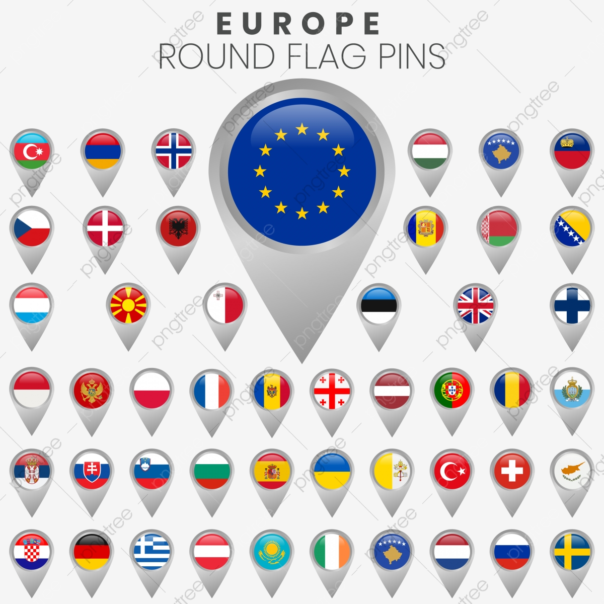 European Flags With Map Pointers European Austria Belgium Png And Vector With Transparent Background For Free Download