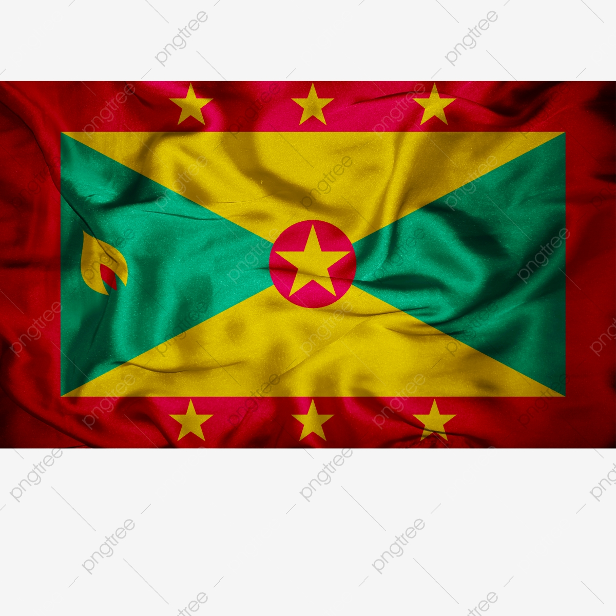 Grenada Flag Transparent With Fabric Grenada Grenada Flag Grenada Flag Vector Png Transparent Clipart Image And Psd File For Free Download