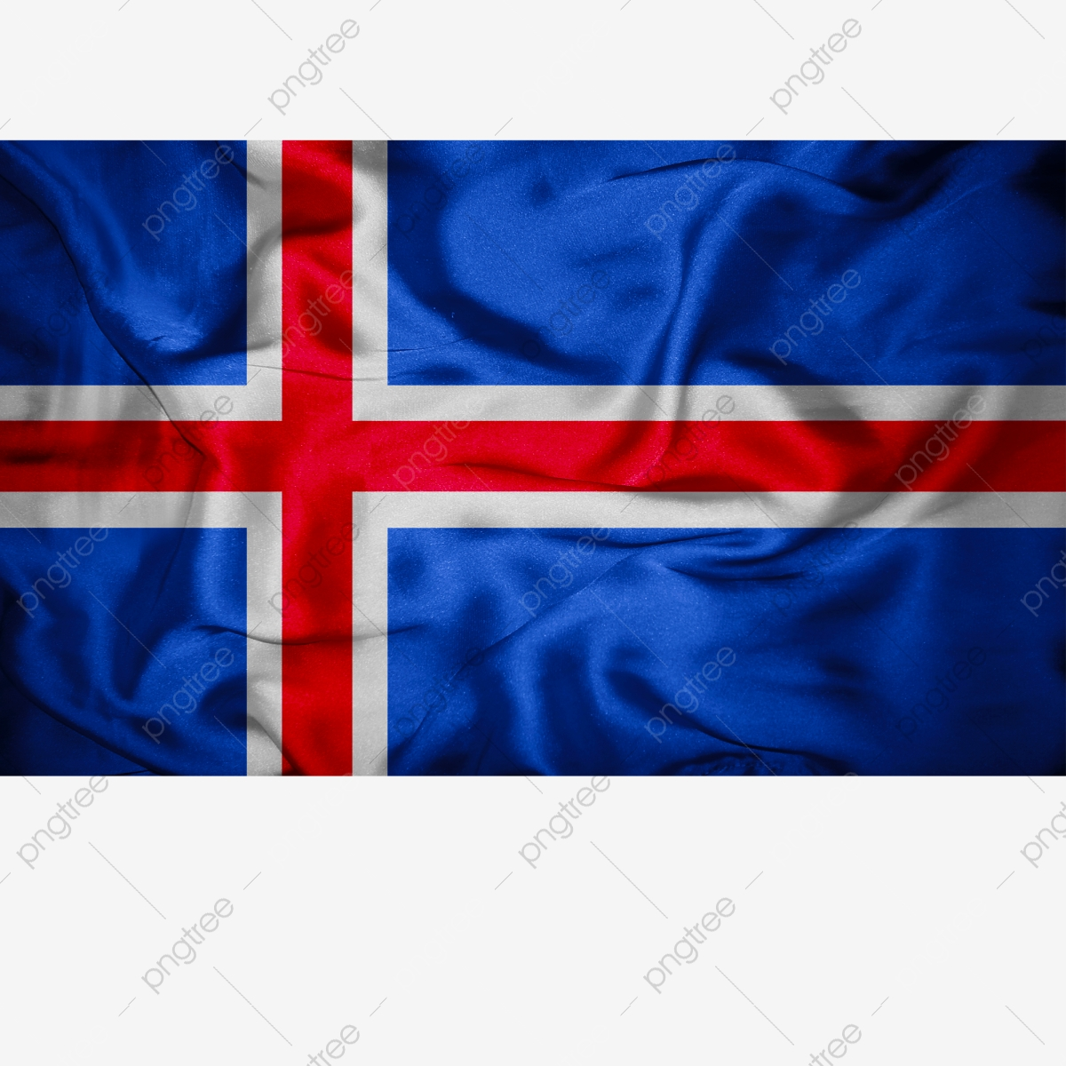 Iceland Flag Transparent With Fabric Iceland Iceland Flag Iceland Flag Vector Png Transparent Clipart Image And Psd File For Free Download