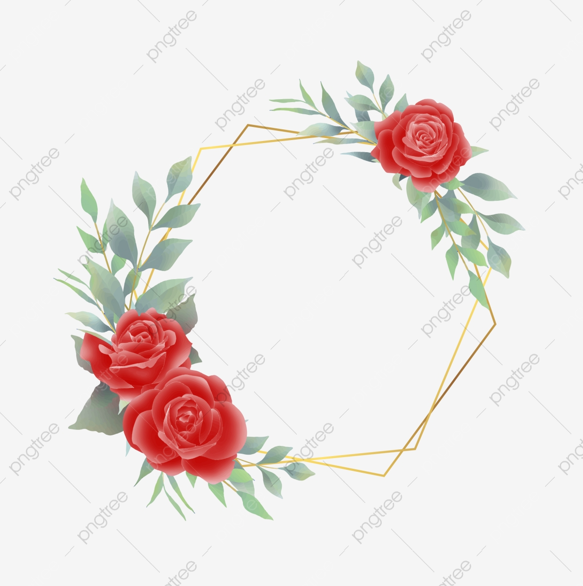 Rose Frame Png Images Vector And Psd Files Free Download On Pngtree