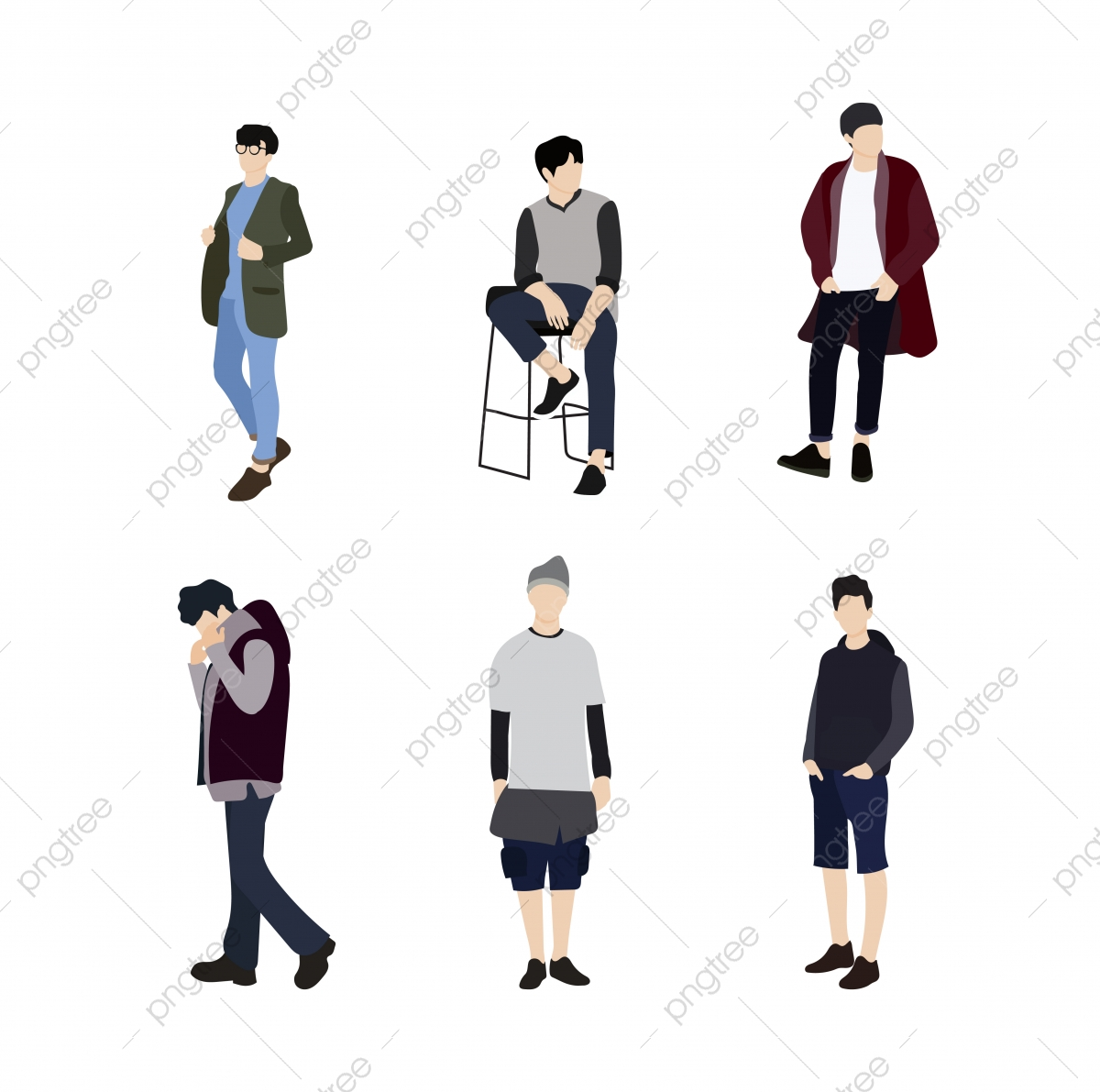 set of korean male clothes people person korean vector png and vector with transparent background for free download https pngtree com freepng set of korean male clothes people 5316366 html
