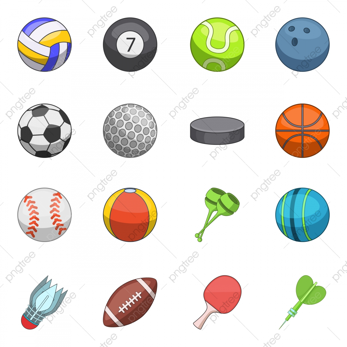 Sport Balls Icons Set Cartoon Style Sport Icons Style Icons Cartoon Icons Png And Vector With Transparent Background For Free Download