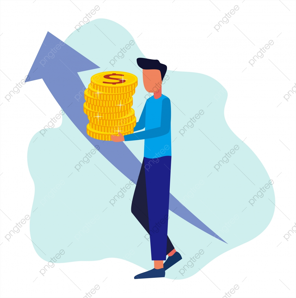 Successful Businessman Creative Illustration Of Business Vector Graphics Financial Services Cash Back Concepts Investments Currency Exchange Savings Accounts Fund Business Growth Png And Vector With Transparent Background For Free Download
