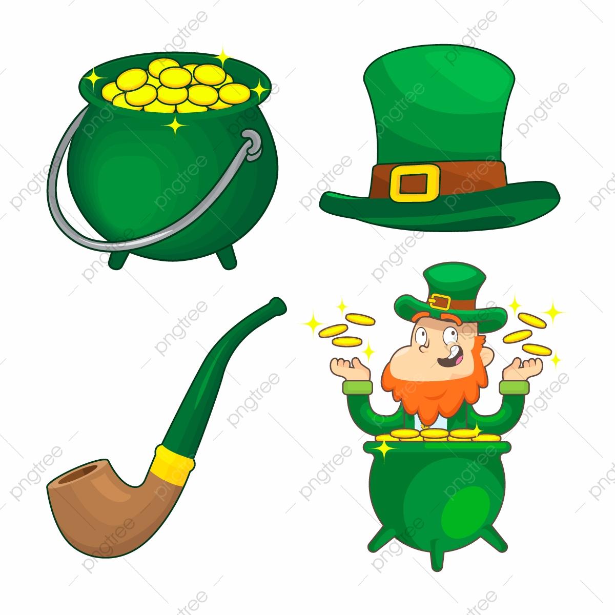 Vector Set Of Saint Patrick Day Cartoon Cartoon Character