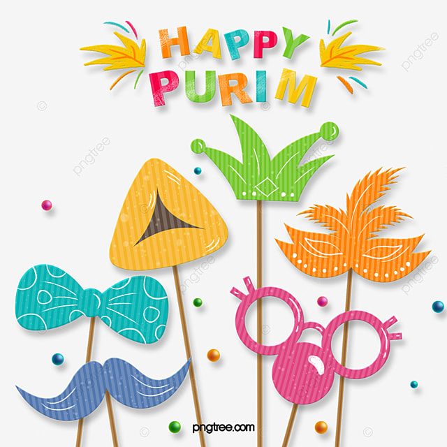 purim purim festival mask party cartoon decoration illustration