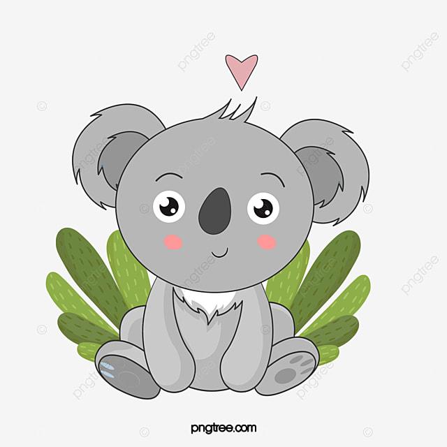 Illustration De Dessin Anime Mignon Koala Dessine A La Main Koala Plante Dessin Anime Fichier Png Et Psd Pour Le Telechargement Libre