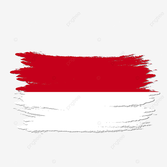 Indonesia Flag Transparent Watercolor Painted Brush Art Clipart Indonesia Indonesia Flag Png Transparent Clipart Image And Psd File For Free Download