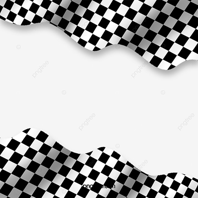 White Business Card Mockup Logo: Black And White Checkered Png, Vector, PSD, And Clipart