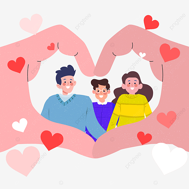 Dibujado A Mano De Dibujos Animados Amor Gesto Familia Ilustración, Gesto,  Familia, Pintado A Mano PNG y PSD para Descargar Gratis   Pngtree